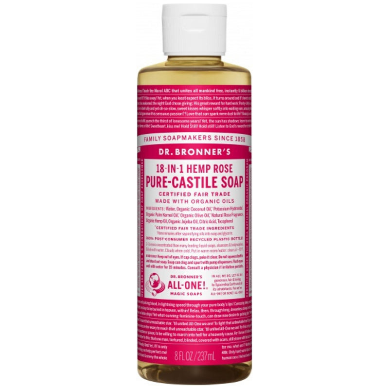 Dr.Bronner's Rose Pure Castile Soap 237ml