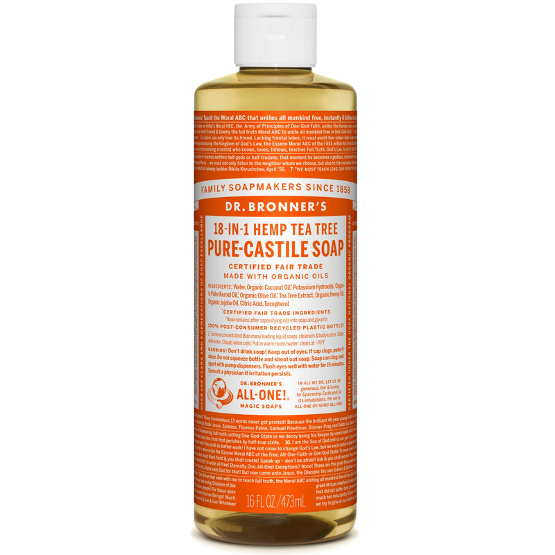 Dr.Bronner's Tea Tree Pure Castile Soap 473ml
