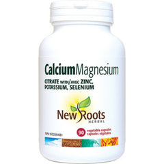 New Roots Calcium Magnesium Citrate with Zinc 90vcaps