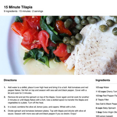 Anti-Candida Meal Plan Diet (1 semaine) (1 personne)