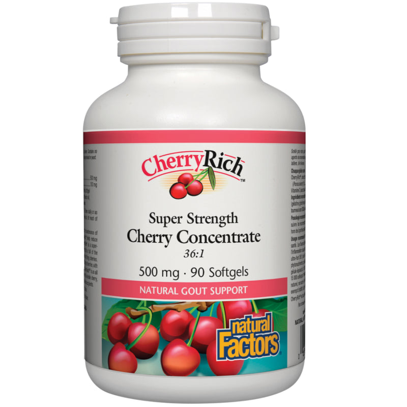 Natural Factors Cherry Concentrate 36:1 500mg 90sgels