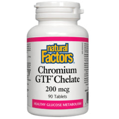 Natural Factors Chromium GTF Chelate 200mcg 90tabs