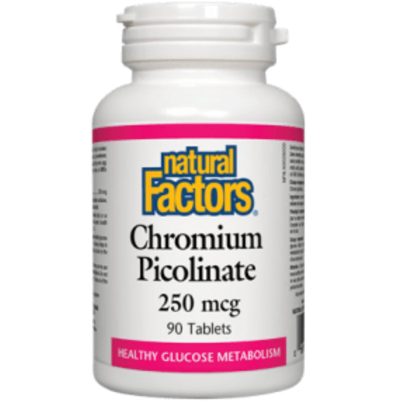 Natural Factors Chromium Picolinate 250mcg 90tabs