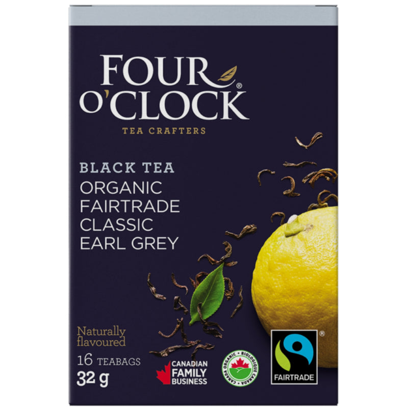 Four O'Clock Organic Classic Earl Grey 16 Tea Bags