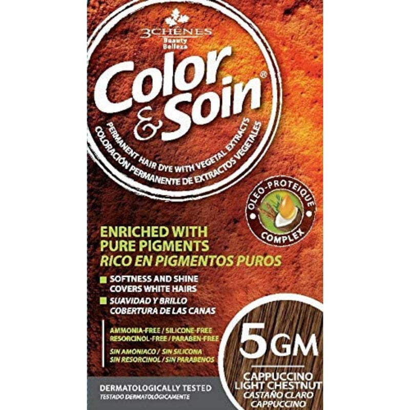 Color & Soin 5GM Cappuccino Light Chestnut Hair Dye