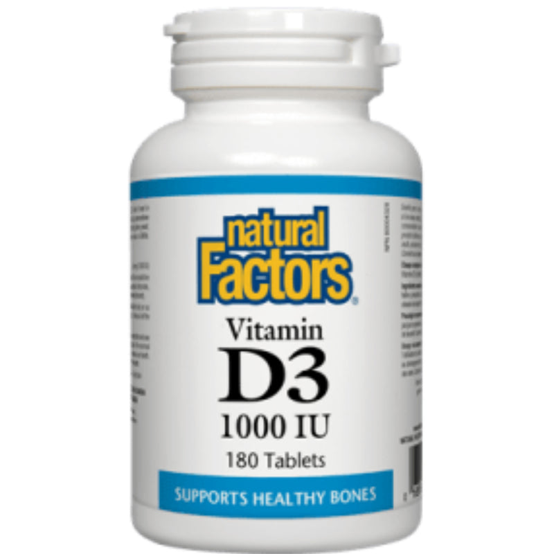 Natural Factors Vitamin D3 1000IU 180t