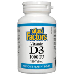 Natural Factors Vitamine D3 1000IU 180t