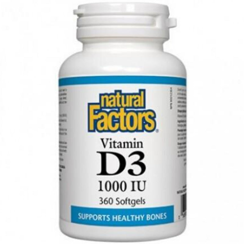 Natural Factors Vitamin D3 1000IU 360sgels