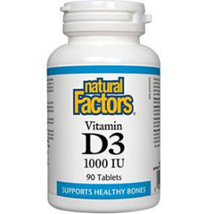 Natural Factors Vitamin D3 1000IU 90t