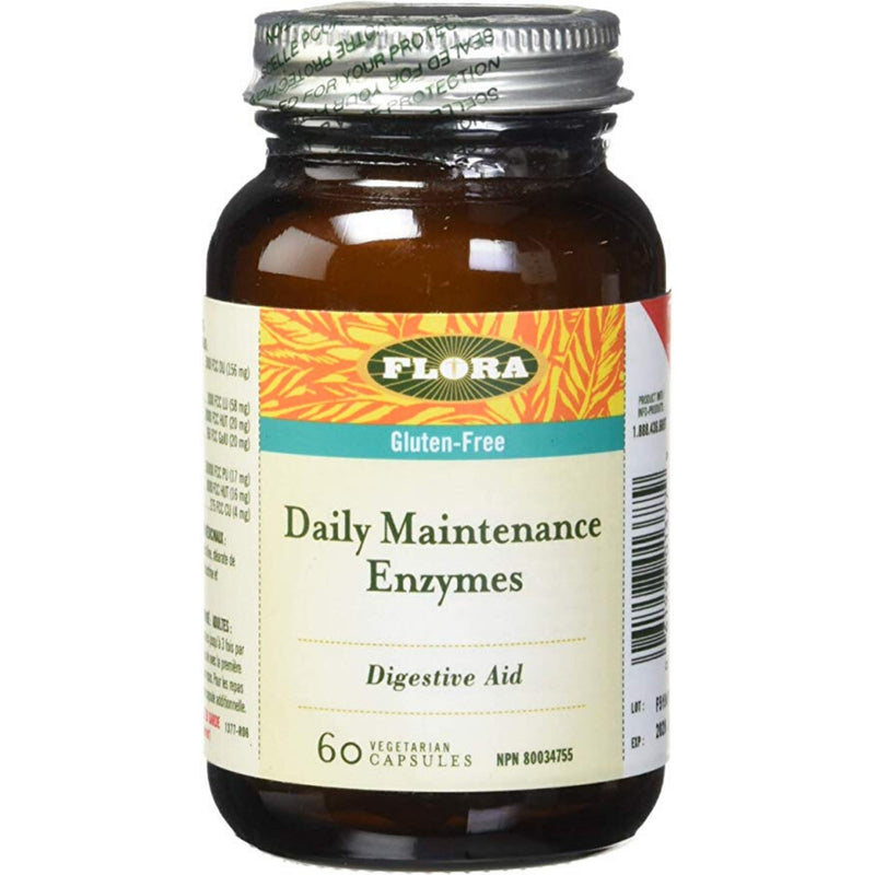 Flora Daily Maintenance Enzymes Gluten-Free 60 vcaps