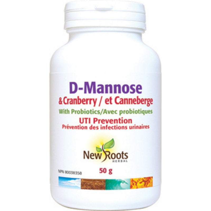 New Roots D-Mannose & Cranberry 50g
