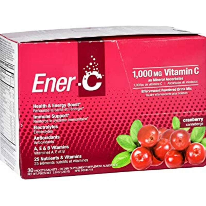 Ener-C 1000mg Vitamin C Cranberry 30 Packets