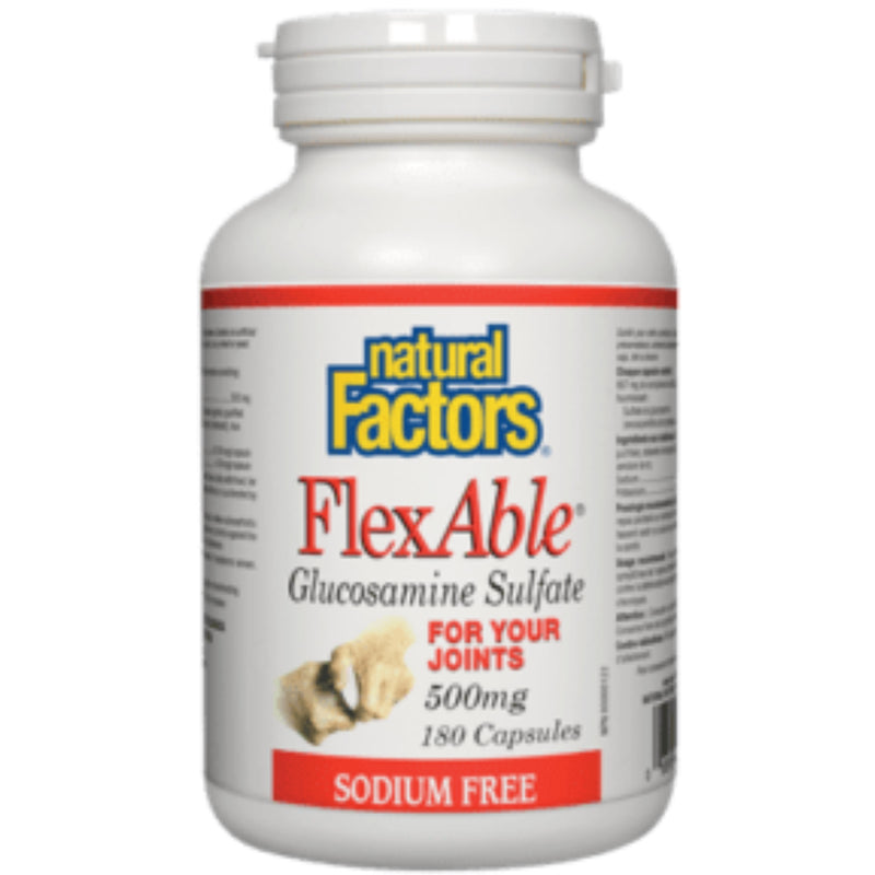 Natural Factors FlexAble Glucosamine Sulfate 500mg 180caps