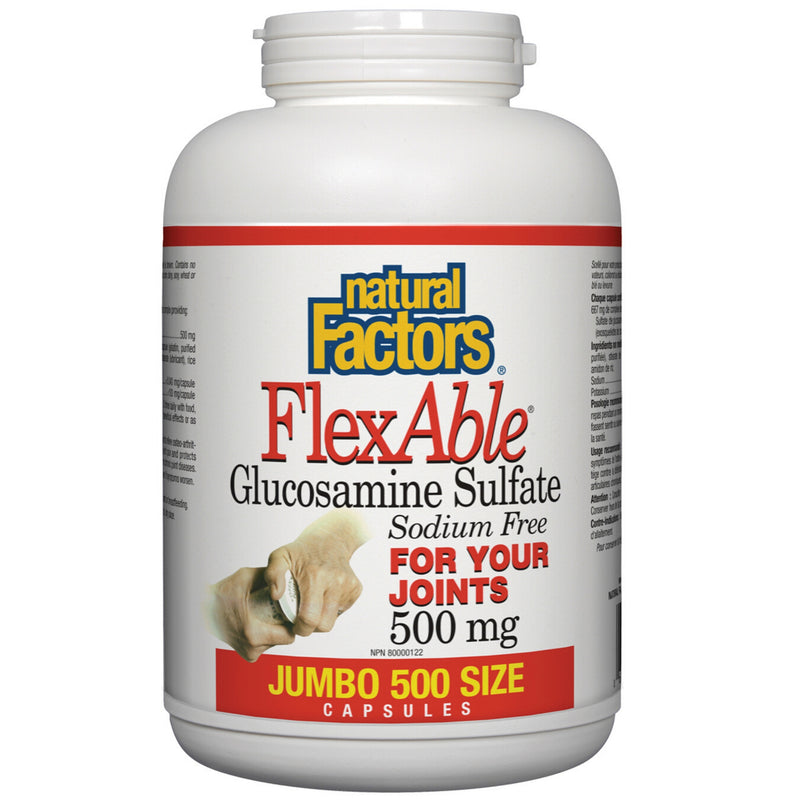 Natural Factors FlexAble Glucosamine Sulfate 500mg 500caps