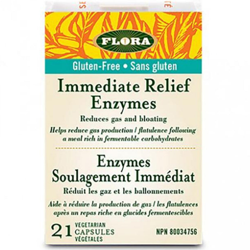 Flora Immediate Relief Enzymes 21vcaps Gluten-Free