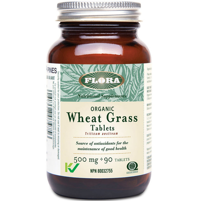 Flora Organic Wheat Grass 500mg 90 tablets