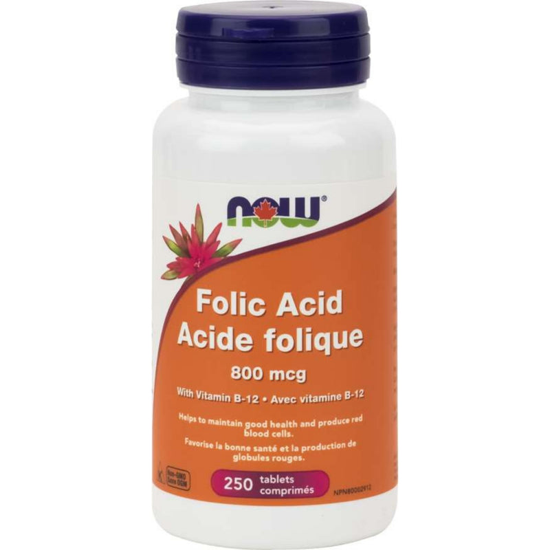 Now Folic Acid 800mcg VitaminB12 250tabs