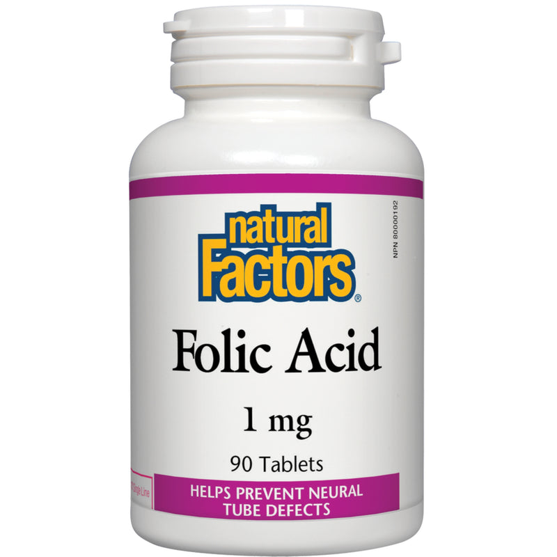 Natural Factors Folic Acid 1mg 90t