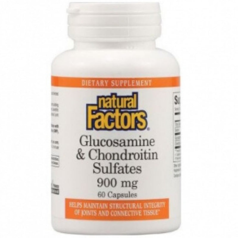 Natural Factors Glucosamine & Chondroitin 900mg 60caps