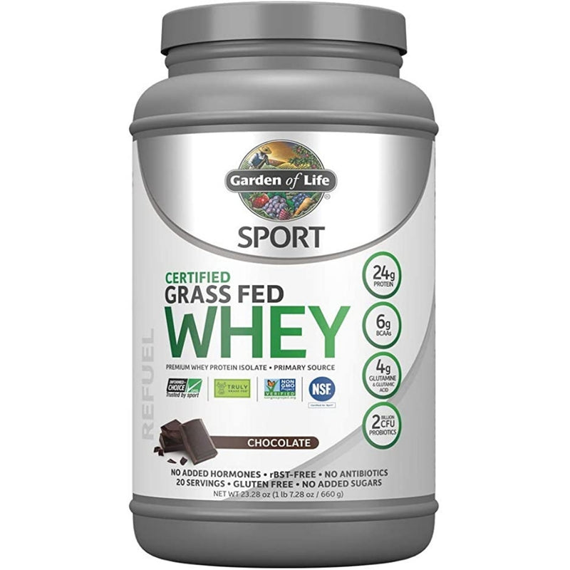 Garden of Life Grass Fed Whey Protein Chocolate 660g