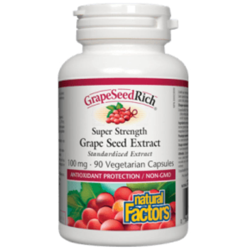 Natural Factors Grape Seed Extract 100mg 90vcaps
