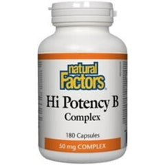 Natural Factors Hi Potency B Complex 50mg 180c
