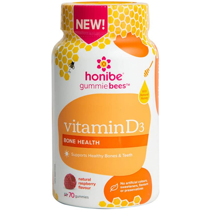 Honibe Vitamin D3 70 Gummies Raspberry