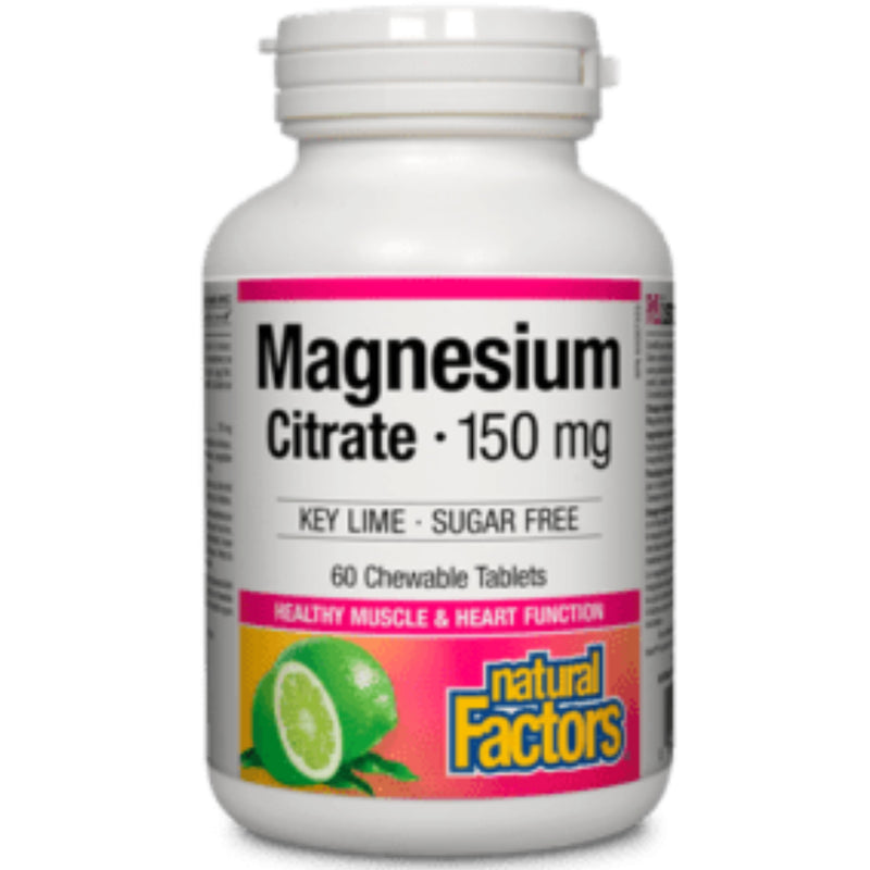 Natural Factors Magnesium Citrate  60chewable tablets