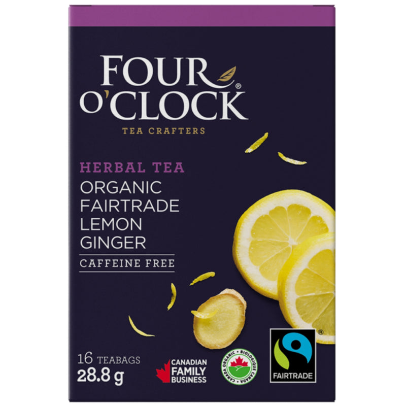 Four O'Clock Organic Lemon Ginger 16 Tea Bags