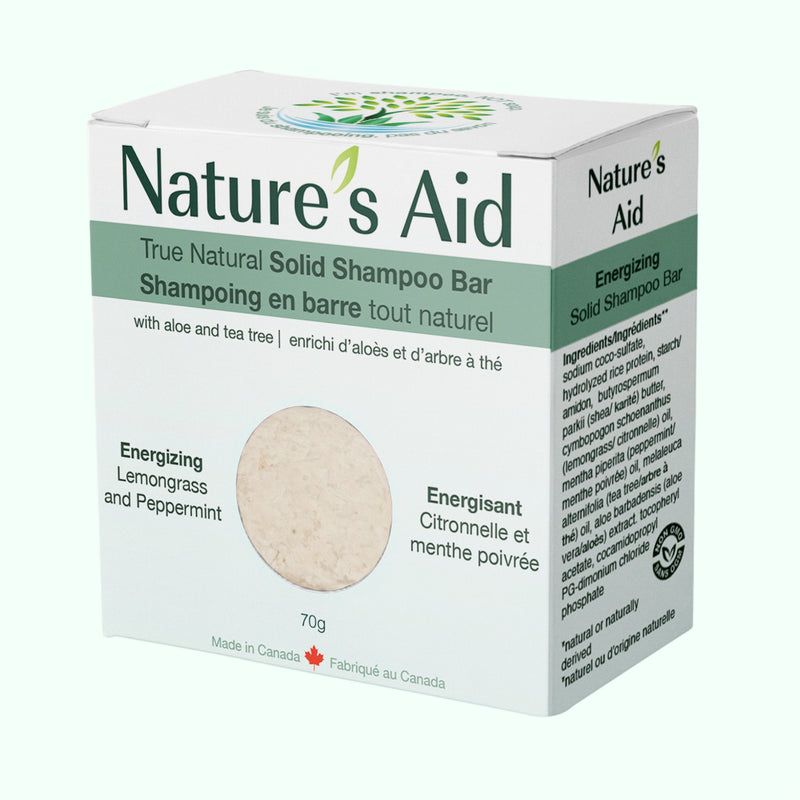 Nature's Aid Lemongrass & Peppermint Shampoo Bar 70g