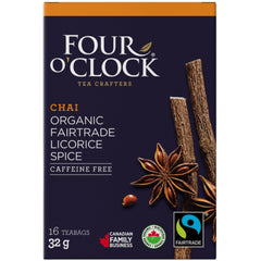 Four O'Clock Licorice Spice Chai Organic 16 Tea Bags