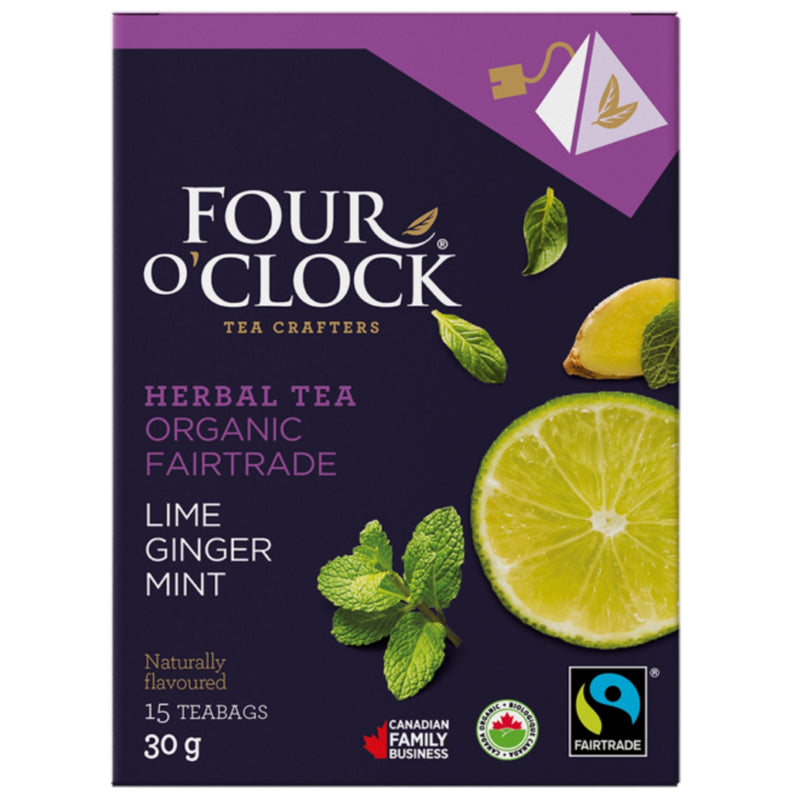 Four O'Clock Lime Ginger Mint 15 Tea Bags