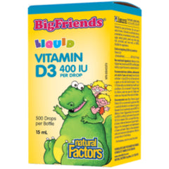 Natural Factors Big Friends Vitamine D3 Liquide 400 UI 15 ml