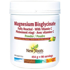 New Roots Magnesium Bisglycinate 200mg 454g Powder