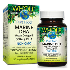 Natural Factors WES Marine DHA Vegan omega3 30vcaps
