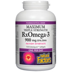 Natural Factors Triple Strength RxOmega3 900mgEPA/DHA 150sgels