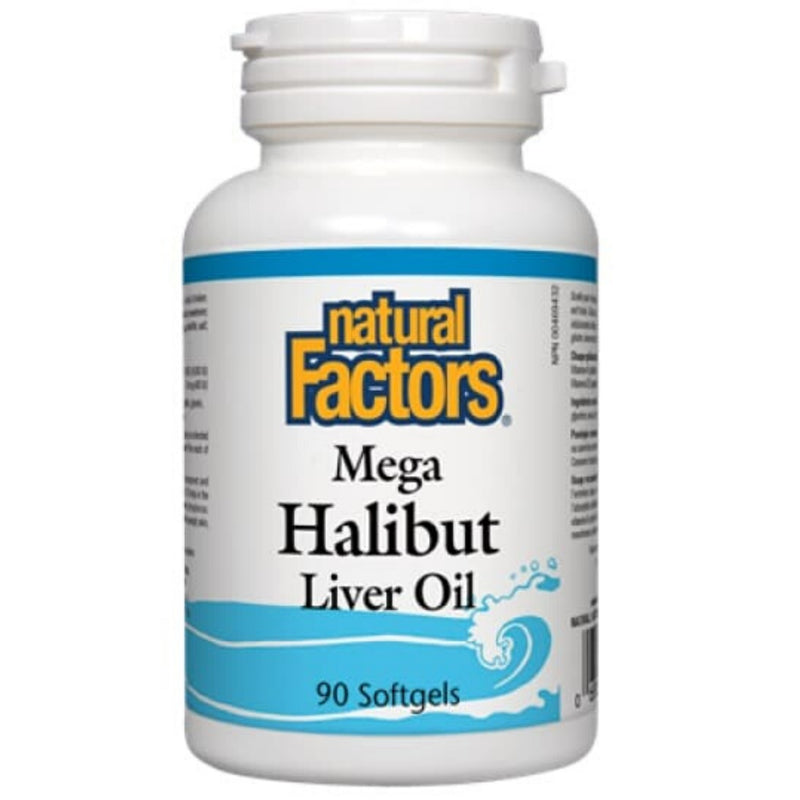 Natural Factors Mega Halibut Liver Oil 90sgels