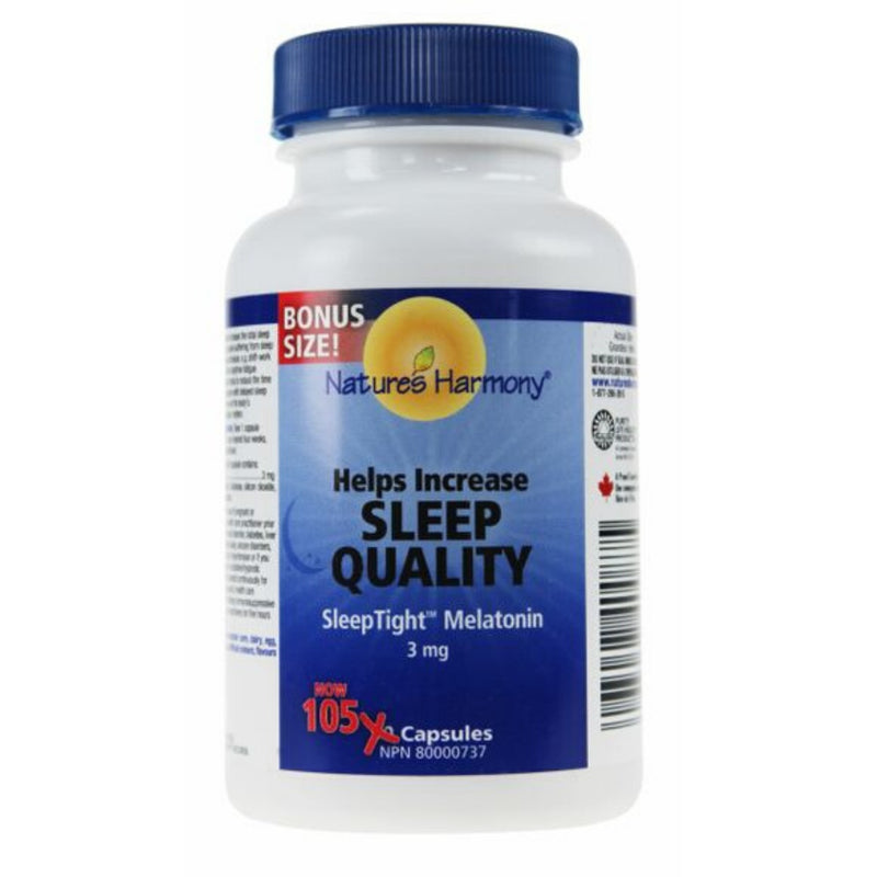 Nature's Harmony SleepTight Melatonin 3mg 105 caps