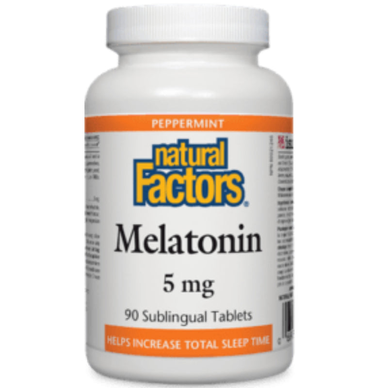 Natural Factors Melatonin Peppermint 5mg 90tabs