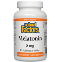 Natural Factors Mélatonine Menthe Poivrée 5mg 90tabs