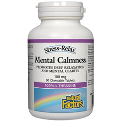 Natural Factors Mental Calmness 100mg 60 chewables
