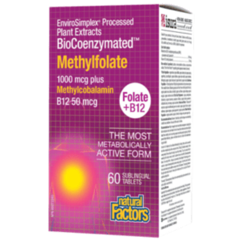 Natural Factors Methyl Folate 1000mcg Plus B-12  60tabs