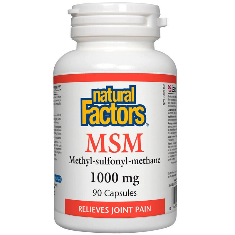 Natural Factors MSM 1000mg 90caps