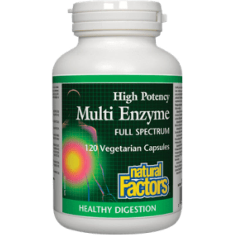 Natural Factors Multi Enzyme Full Spectrum 120vcaps