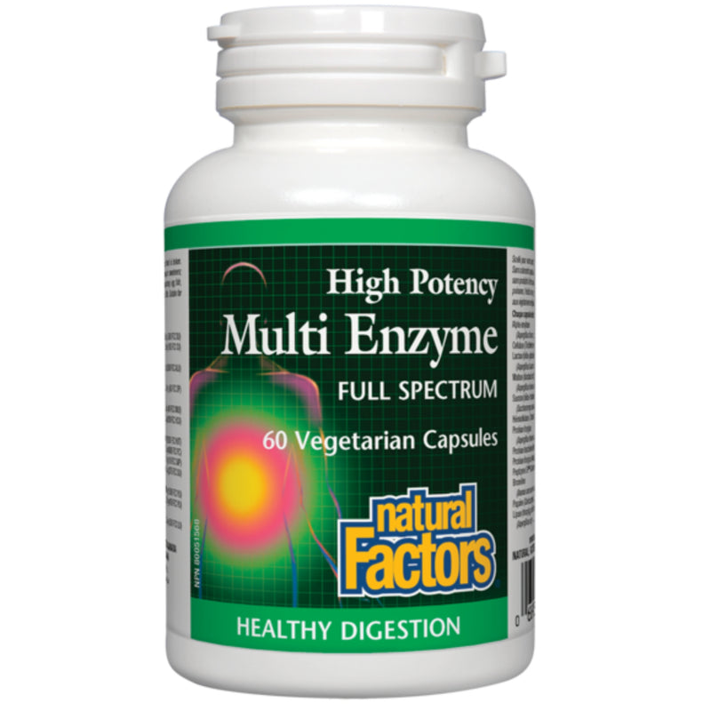 Natural Factors Multi Enzyme Full Spectrum 60vcaps