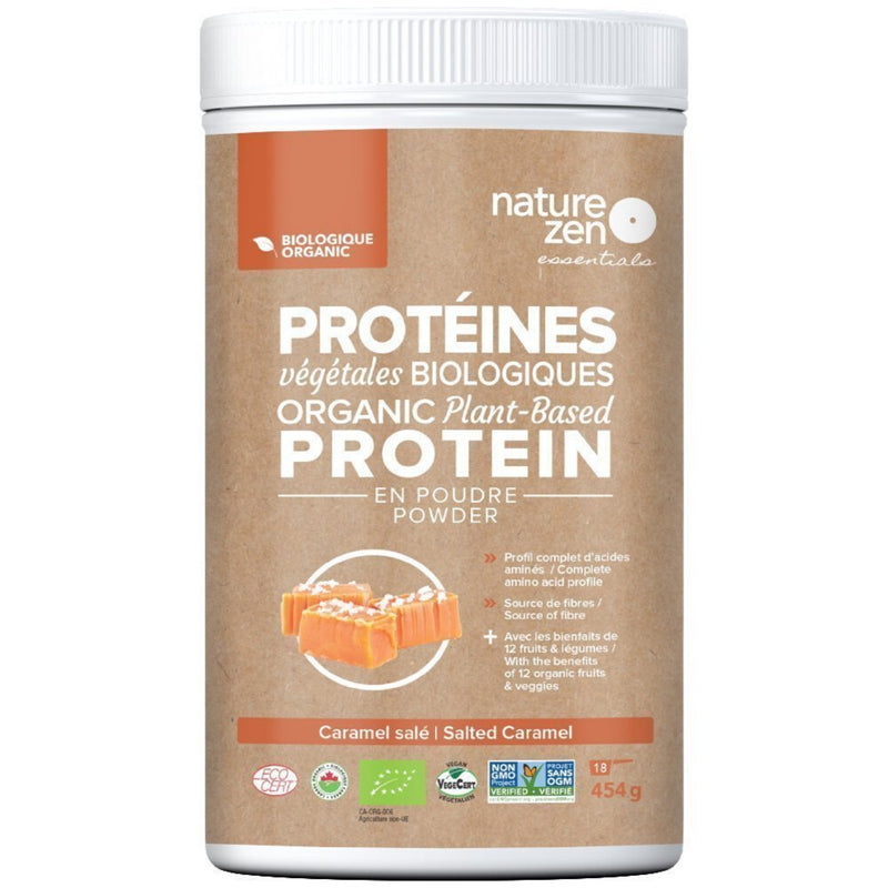 Nature Zen Organic Plant Based Salted Caramel Protein Powder 454g