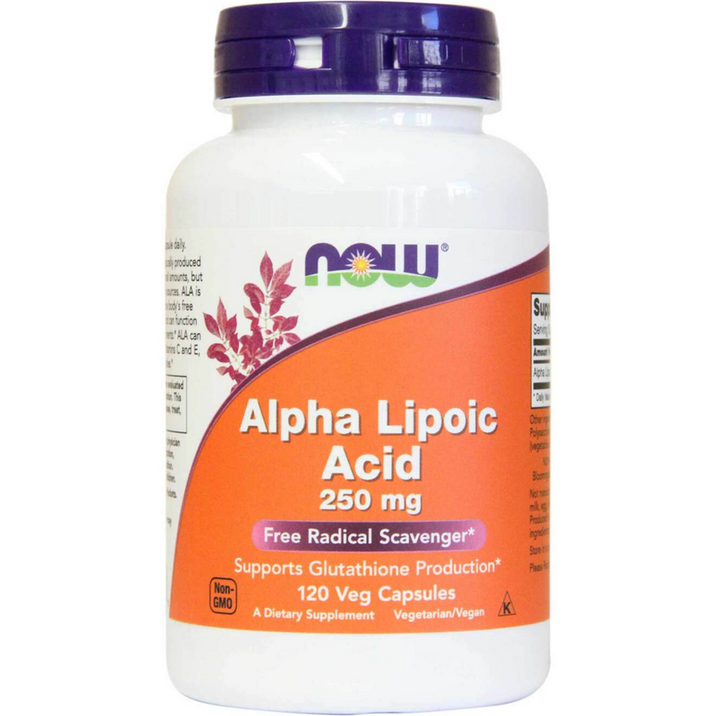Now Alpha Lipoic Acid 250mg 120caps