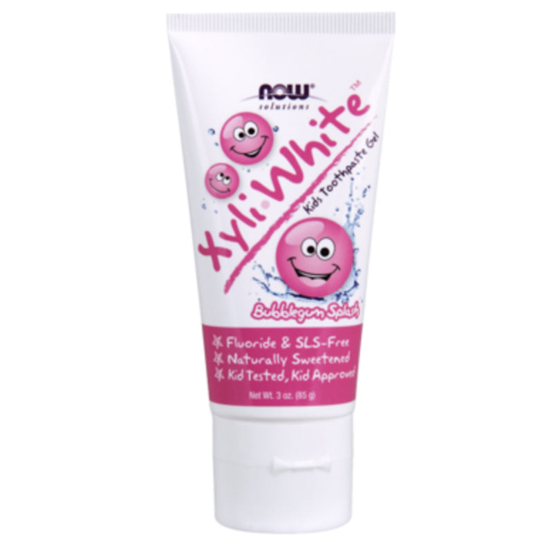 Now Kids Toothpaste Bubblegum Xyli-white 85g