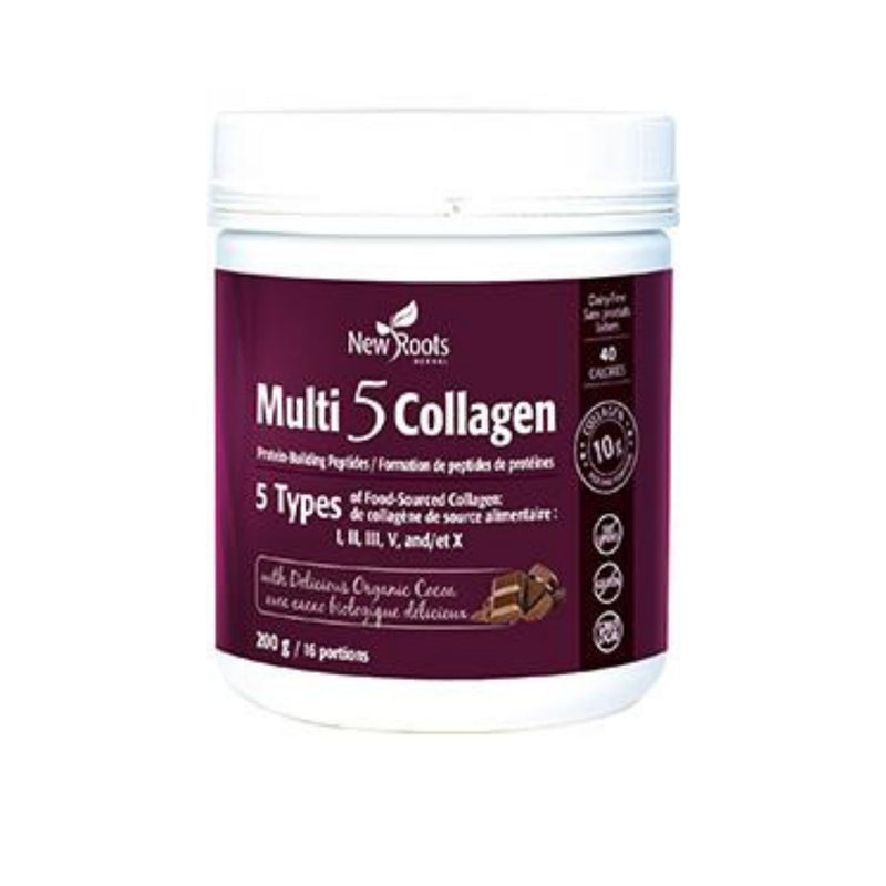 New Roots Multi 5 Collagen With Delicious Organic Cocoa 200g