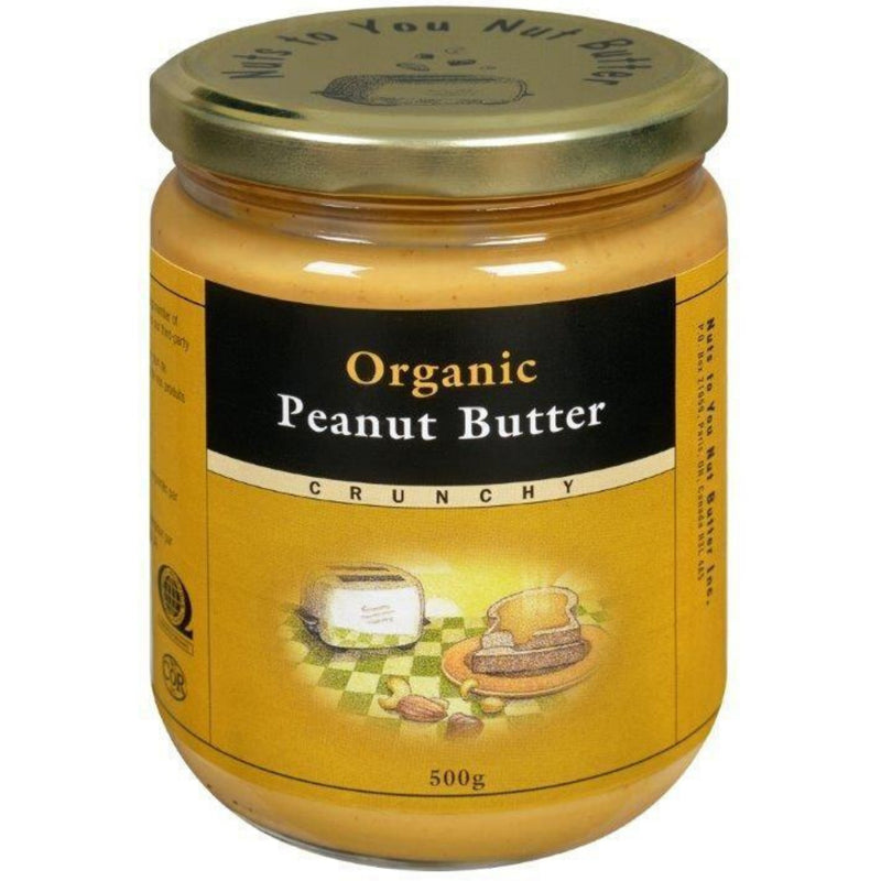 Nuts To You Organic Peanut Butter Crunchy 500g